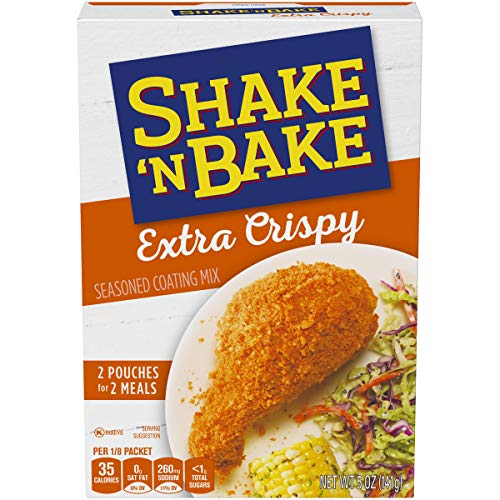 Shake 'N Bake Extra Crispy Seasoned Coating Mix for Chicken & Pork (5 oz Box)