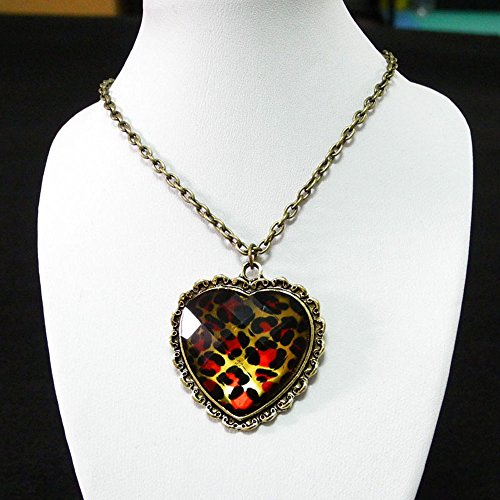 5 Pieces Necklace Pendent Jewelry Fashion Decoration Costume Retro Jewellery Collier Long Chain 50278 Heart Leopard