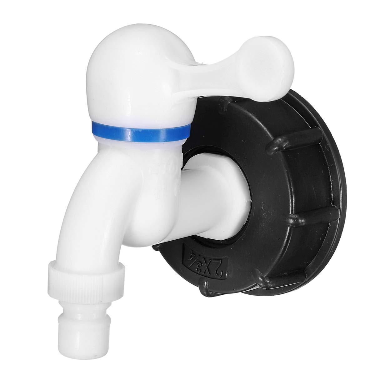 RanDal Adaptador De Tanque De Rosca Ibc De 2 Pulgadas Adaptador De Conector De Grifo De Reemplazo De V/álvula S60X6 Kit # 1