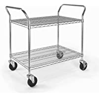 OFM SHCART2436 Heavy Duty Mobile Media Cart, 24 by 36-Inch