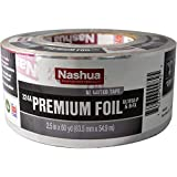 """Nashua 324A Cold Weather Premium Foil Tape, 4.8 mil Thick, 60 yards Length x 2-1/2"""" Width, Silver"""