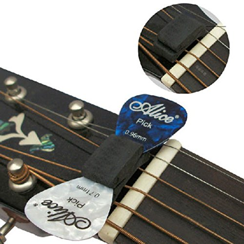 Alice Rubber Wedgie Pick Holder with 2 FREE Picks Musical Guitar Pick Holder Accessories Gift