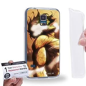 Case88 [Samsung Galaxy S5 Mini] Gel TPU Carcasa/Funda & Tarjeta de garantía - Attack on Titans Elen Yeager 0713