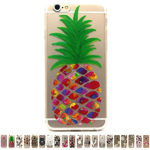 Gravydeals® Gravydeals® iPhone 6 Plus Pineapple Transparent Case,Crystal Clear Ultra Slim Soft TPU Case with Stylish Pattern Design for Apple iPhone 6 Plus / 6S Plus 5.5 Inch