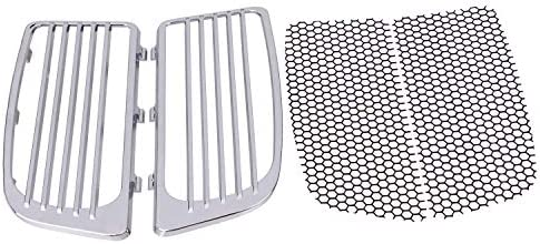 1 Pair Black Radiator Grills Steel Honeycomb-shaped Compatible with Harley Touring 2014-2019 equipped Twin-Cooled High Output Twin Cams