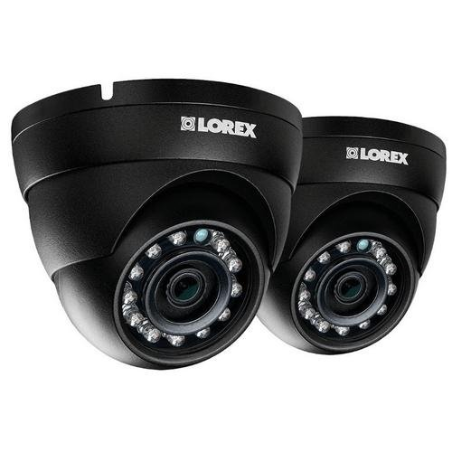 Lorex LNE4422W-2PK 2-Pack 4MP IP HD Dome Camera with Color Night Vision