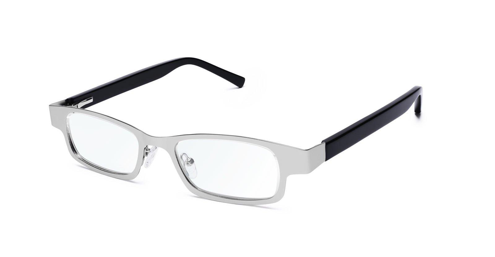 Eyejusters, Self-Adjustable Glasses, Combination, Sliver & Black