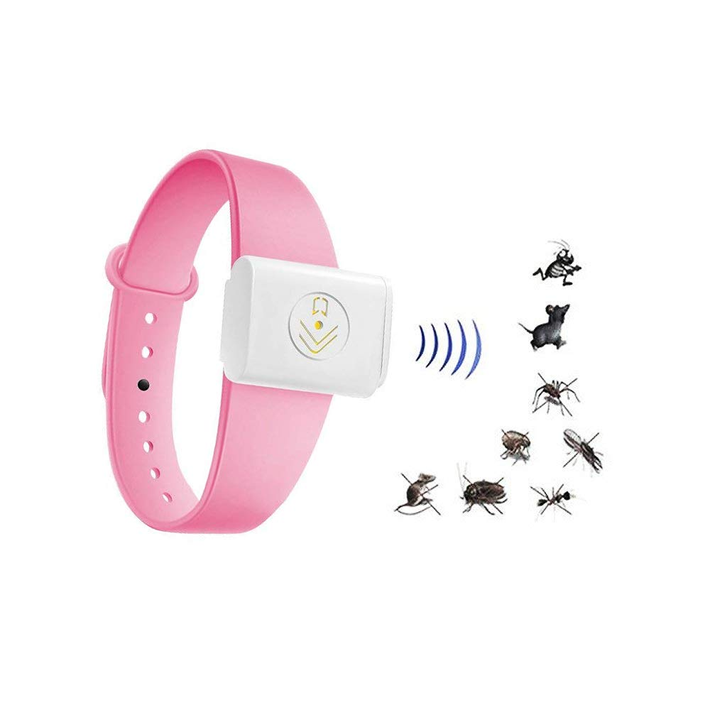 Homeda Camping Mosquito Repellent Bracelet, Electric Ultrasonic Mosquito Repellent Wristband Non-toxic Deet Free Eco-friendly for Camping & Hiking