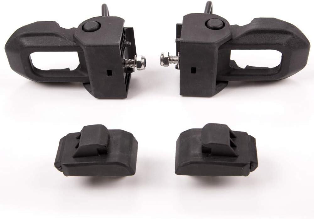 Speedmotor New Hood Latches Hood Lock Catch Latches Kit for Jeep Wrangler JK JKU JL JLU Unlimited 2007-2018 One Pair Black