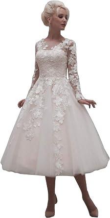 Nanger Robe de mariée courte en dentelle