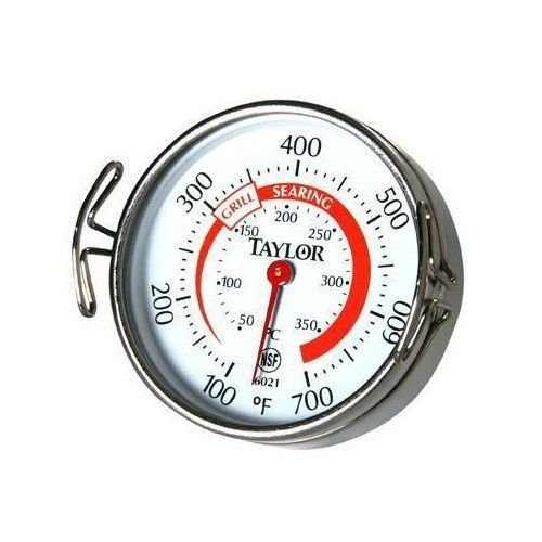 Taylor 6021 Classic Stainless Steel Grill Thermometer With Large 2