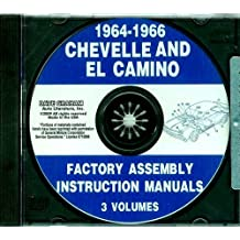 1964 1965 1966 CHEVROLET CHEVELLE, MALIBU & EL CAMINO FACTORY ASSEMBLY INSTRUCTION MANUAL CD. Covers Super Sport, Malibu, Convertibles, 2- & 4-door hardtops, Station Wagons, Super Sports, and El Caminos. CHEVY CHEVROLET 64 65 66
