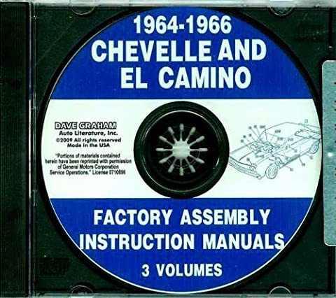 1964 1965 1966 CHEVROLET CHEVELLE, MALIBU & EL CAMINO FACTORY ASSEMBLY INSTRUCTION MANUAL CD. Covers Super Sport, Malibu, Convertibles, 2- & 4-door hardtops, Station Wagons, Super Sports, and El Caminos. CHEVY CHEVROLET 64 65 - 1964 Malibu Convertible