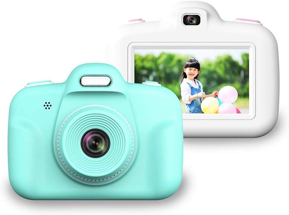APcjerp Kinder Kamera 3-Zoll-Screen-Digital-Foto-Kamera Baby-Mini-Cartoon-8 Millionen kleines SLR Spielzeug mit 16G Speicherkarte und Kameratasche Hslywan (Color : Pink) Blue