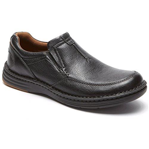 (Dunham Men's REVchase Slip-On, Black, 9.5 D US)