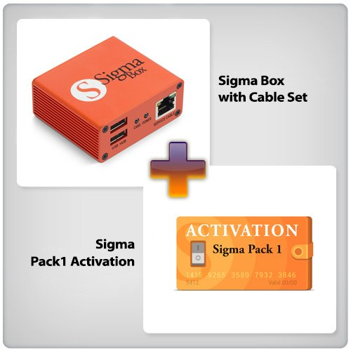 Sigma Pack - Sigma Box with Cable Set (9pcs.) + Sigma Pack 1 Activation