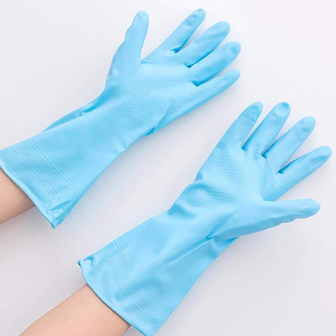 TAOtTAO - Guantes de látex de goma impermeables para lavado de platos: Amazon.es: Belleza