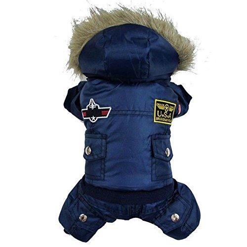 Pro Pet Hund Winter Warm Coat Jacke USA Air Force Wasserdicht Puppy Hoody Kleidung Jumpsuit