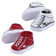 Converse Baby Bright Infant Booties (2 Pack) (American Stars (600), 0-6 Months)