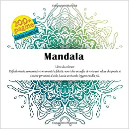 Mandala Libro Da Colorare Difficile Risulta Comprendere
