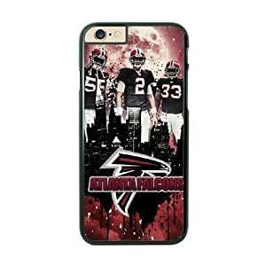 NFL iPhone 6 Plus Black Cell Phone Case Atlanta Falcons QNXTWKHE1853 NFL Personalized Clear Phone Cases