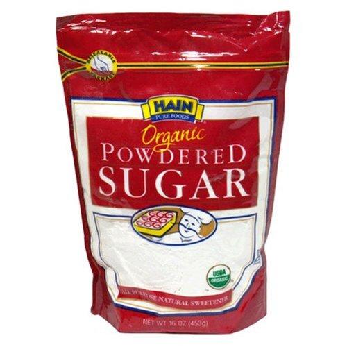Hain Pure Foods Organic Powdered Sugar, 16 oz. (Pack of 12)