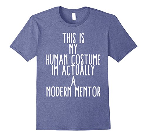 Modern Male Vampire Costume (Mens Human Costume Modern Millennial Mentor Gift Shirt 2XL Heather Blue)