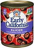 Early California Sliced Ripe Black Olives, (12) 3.8-Ounce Cans