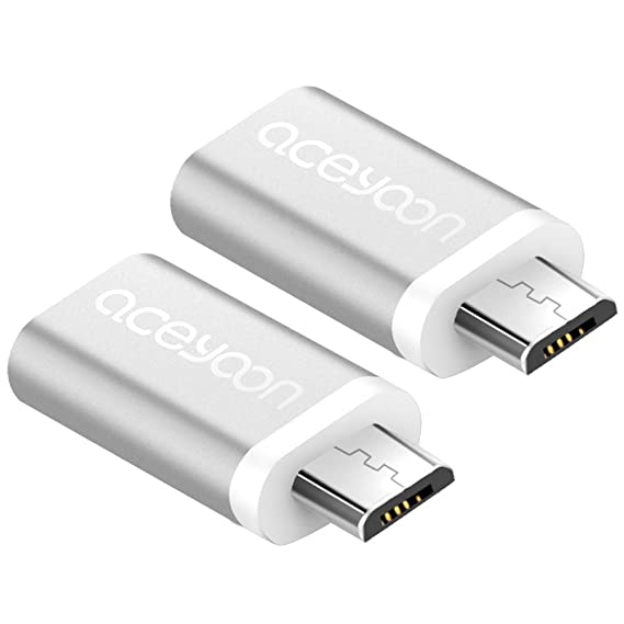 aceyoon micro usb male to usb type c female adapter 2 pack mini macbook usb c
