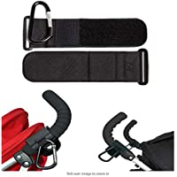 Xrten 2 Pcs Baby Multipurpose Cart Hook, Pushchair Stroller Diaper Bag Hook Clip for Bags, Groceries, Clothing, Purse and More