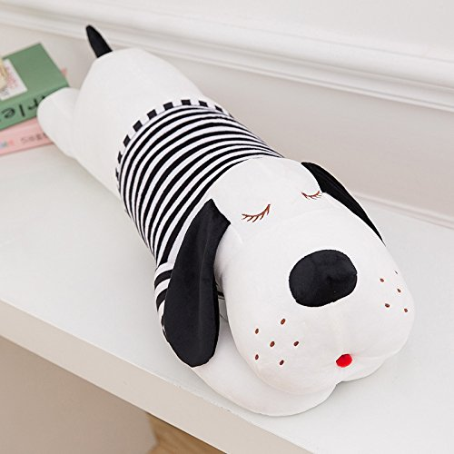 unlockgift Cute Stuffed Dog Animal Toy Plush Dog Pillow 35inch (Black)