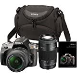 Sony Alpha DSLR-A380 Digital SLR with 18-55mm & 75-300mm Lenses and Carrying Case wtih Turtorial DVD