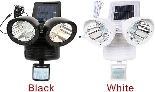 YJXUSHYQ LED Lights 22 LED Dual Gloves Detector Solar Spot Light Motion Sensor Outdoor Floodlight Sensor Light Gloves Light Color Black