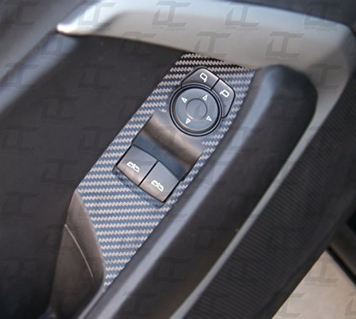 Camaro Carbon Fiber Door Switch Panel Trim Accent Decal kit (2016-2019) (Black Carbon Fiber)