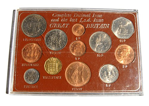 UK 1967 Coinage of Great Britain Complete Decimal Issue Uncirculated