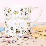 #8: Milly Green Royal Wedding Fine Bone China Mug to Celebrate the Wedding of HRH Prince Harry to Meghan Markle Made in UK