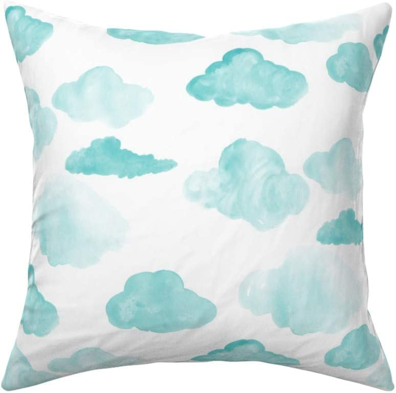 The Pillow Collection Enye Coastal Mint Down Filled Throw Pillow