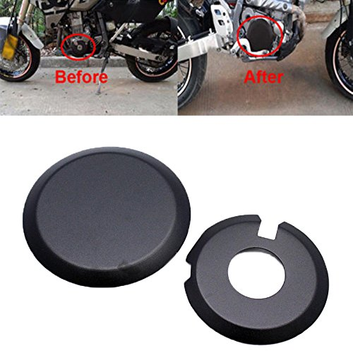 Engine Clutch Case Cover Guards Protector Set For Suzuki Drz400 Kawasaki KLX400 (Black)