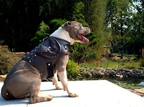 K9 Exclusive Piel Perro Chaqueta Abrigo Cuello Walking Arnés ...