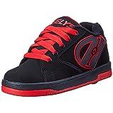 Heelys Propel Skate Shoe (Toddler/Little Kid/Big Kid), Black/Red, 6 M US Big Kid