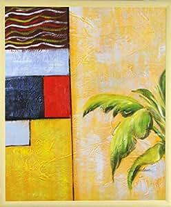 Pflanzen im raum de pintura al leo sobre lienzo 50 x 60 for Pflanzen im raum