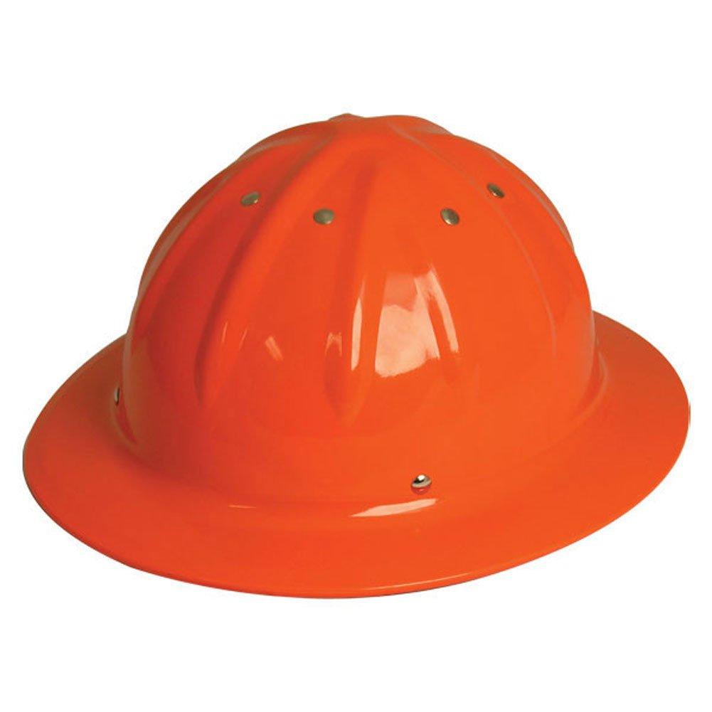 WoodlandPRO Full Brim Aluminum Hard Hat - Hi-Viz Orange