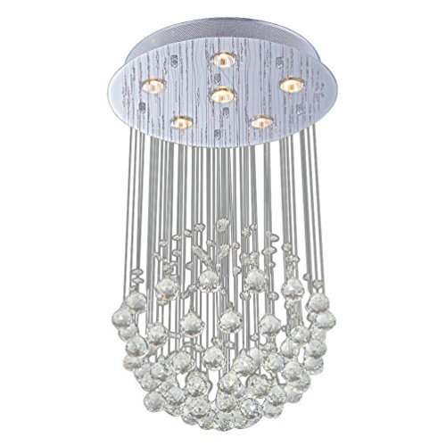 Lightess Chandelier Lights Modern Contemporary Large Luxury Crystal Ceiling Light Rain Drop Pendant Lamp With 6 Lights (Light Lamp Six Foyer)