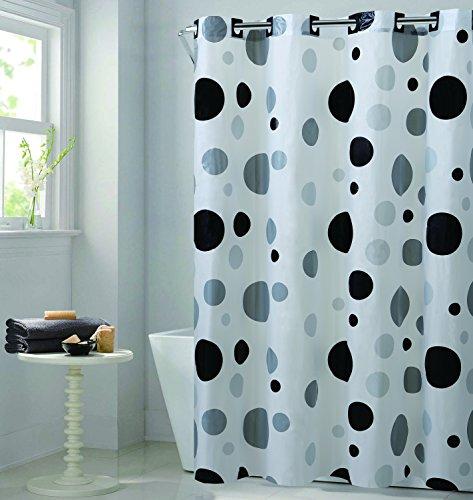 Hookless RBH14FC244 Retro Dot EZ on Retro Dot Shower Curtain