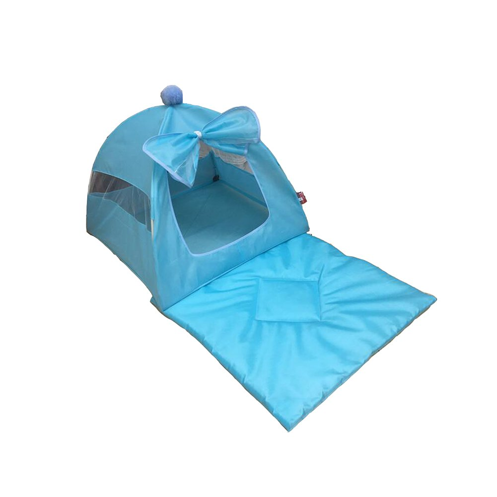 bluee DALL Beds FS548 Waterproof And Moistureproof Cats And Kennels Pet Bed Pet Tent Four Seasons Universal Removable Wash L No. (color   GREEN)