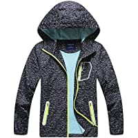 C&X Boys Rain Jacket – Lightweight Waterproof Jacket for Boys with Hood,Best for Rain School Day,Hiking and Camping
