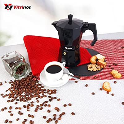 Vitrinor Black - Cafetera Italiana de aluminio express, 9 tazas ...