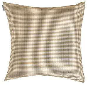 Indes Fuggerhaus Charlie Checkered Decorative Cushion Cover - Hazel, 40 x 40 cm