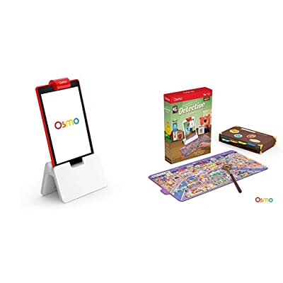 Osmo - Base for iPad - 2 Hands-On Learning Games + Detective Agency: A Search & Find Mystery Game Bundle (Ages 5-12) iPad Base Included: Toys & Games