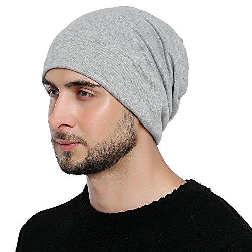 año adaptable Jersey DonDon transpirable todo para de talla y cualquier Gorro Hombre flexible Claro gorro Gris a clásico el suave cabeza AYxBp1